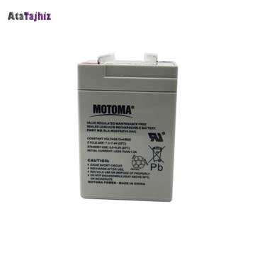 باتری سیلید اسید 6 ولت 4.5 آمپر موتوما خرید باتری