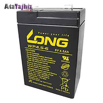 باتری سیلید اسید 6 ولت 4.5 آمپر برند لانگ Long