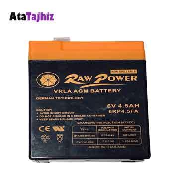 باتری سیلید اسید 6 ولت 4.5 آمپر راوپاور (row power)