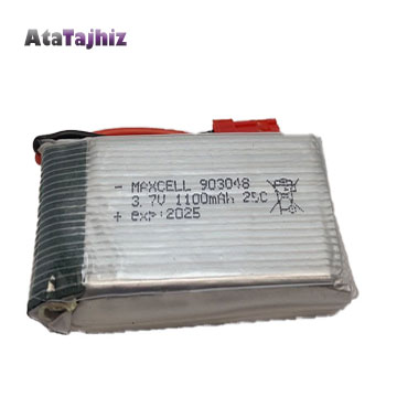 باتری لیتیوم پلیمر 3.7 ولت 1100 میلی آمپر