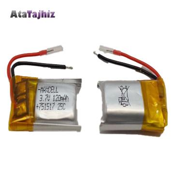باتری لیتیوم پلیمر 120 میلی آمپر 3.7 .لت