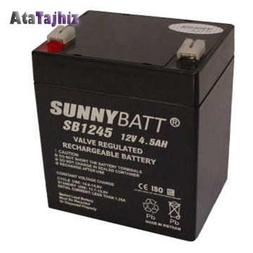 باتری سیلید اسید 12 ولت 4.5 آمپر سانی بت (sunny batt)